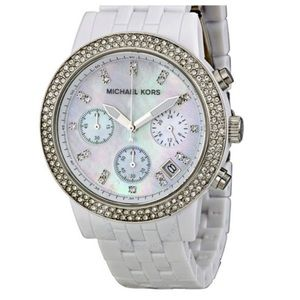 Michael Kors White Hot Chronograh Watch MK5526